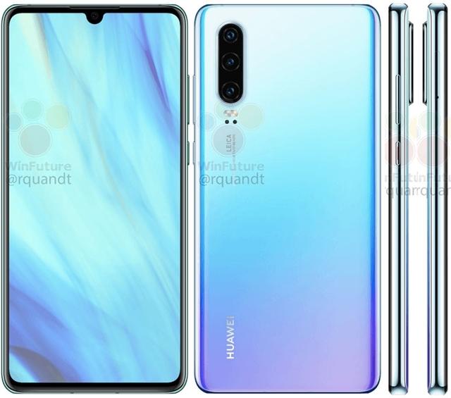 Утечка изображений и характеристик Huawei P30 и P30 Pro